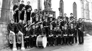 Die Kapelle im Jahr 1983 mit Dirigent Rainer Jauch